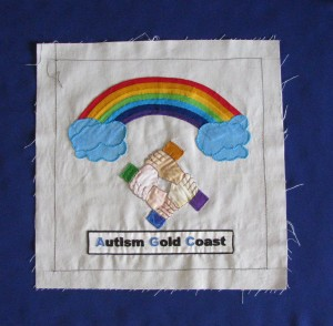 2011 IDPwD Quilt Autism GC Block