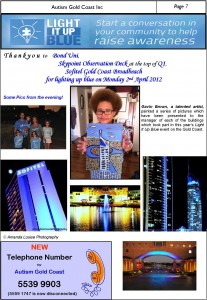 Autism GC Newsletter April 2012_World Autism Awareness Day 2 April 2012